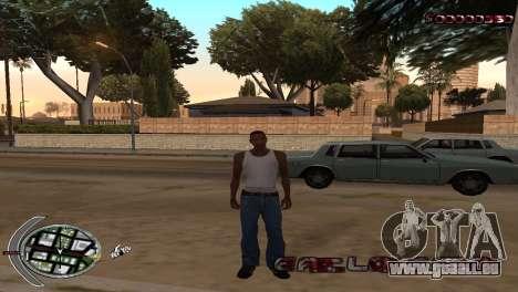 С-la PALETTE de la Terreur pour GTA San Andreas deuxième écran