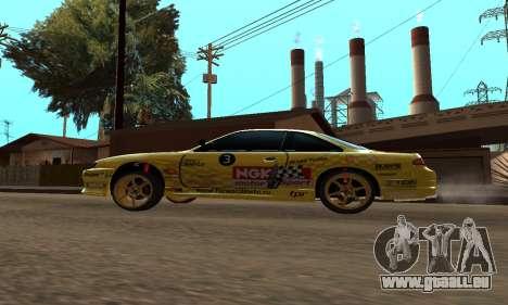 Nissan Silvia S14 NGK pour GTA San Andreas sur la vue arrière gauche