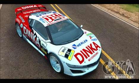 Dinka Jester Racecar (GTA V) (SA Mobile) für GTA San Andreas rechten Ansicht