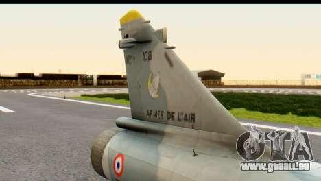 Dassault Mirage 2000-5 für GTA San Andreas rechten Ansicht