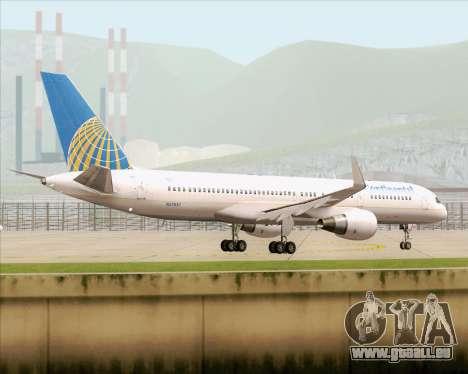 Boeing 757-200 Continental Airlines pour GTA San Andreas vue de côté