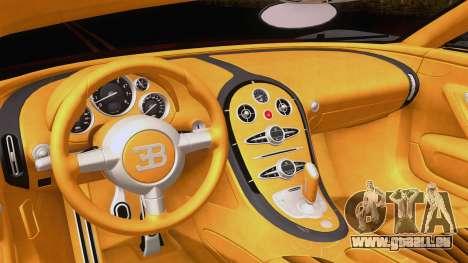 Bugatti Veyron Grand Sport Sang Bleu 2008 für GTA San Andreas Rückansicht