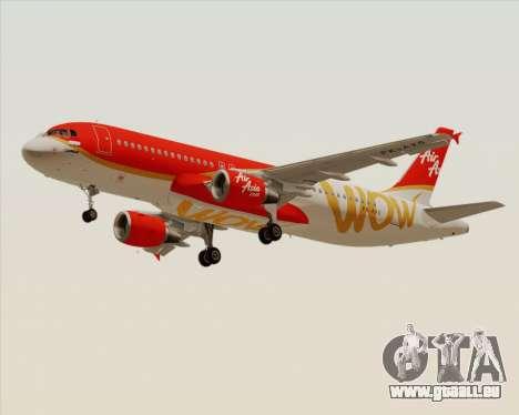 Airbus A320-200 Indonesia AirAsia WOW Livery für GTA San Andreas linke Ansicht