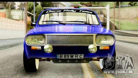 Dacia 1300 B 89 WRC für GTA San Andreas Rückansicht
