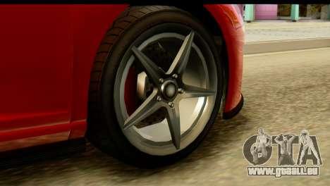 GTA 5 Obey 9F Coupe SA Mobile pour GTA San Andreas sur la vue arrière gauche