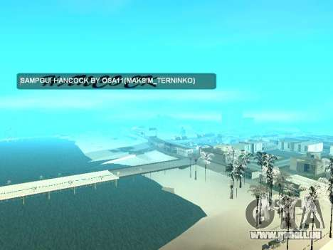 SampGUI Hancock für GTA San Andreas dritten Screenshot