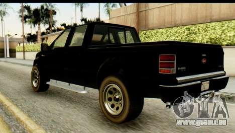 GTA 5 Vapid Sadler pour GTA San Andreas laissé vue