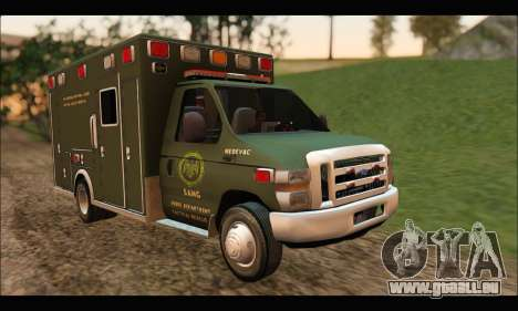 Ford E450 Ambulance SANG Tactical Rescue pour GTA San Andreas
