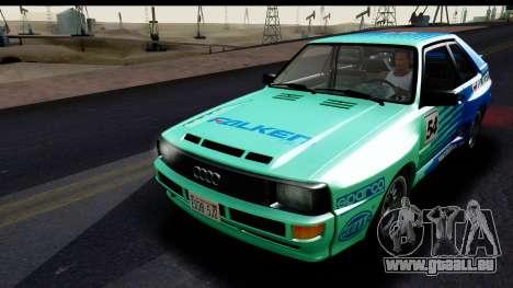 Audi Sport Quattro B2 (Typ 85Q) 1983 [IVF] pour GTA San Andreas vue de dessous