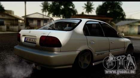Honda Civic Park Garage pour GTA San Andreas laissé vue