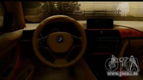 BMW 335i E92 2012 pour GTA San Andreas vue de droite