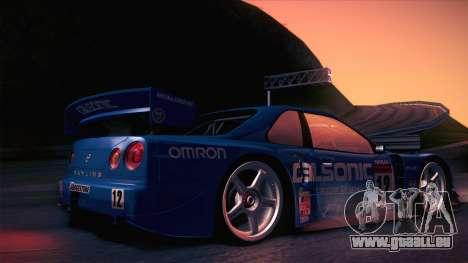 Nissan Skyline GTR-34 2003 für GTA San Andreas