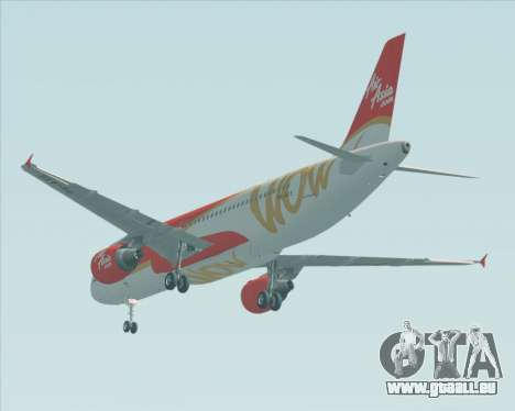 Airbus A320-200 Indonesia AirAsia WOW Livery pour GTA San Andreas vue arrière