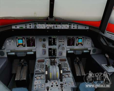 Airbus A320-200 Indonesia AirAsia WOW Livery pour GTA San Andreas vue de dessus