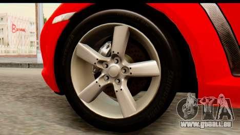 Mazda RX-8 2005 pour GTA San Andreas sur la vue arrière gauche