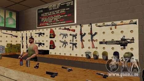 Les modèles 3D des armes dans l'Ammu-nation pour GTA San Andreas troisième écran