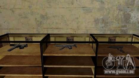 Les modèles 3D des armes dans l'Ammu-nation pour GTA San Andreas dixième écran
