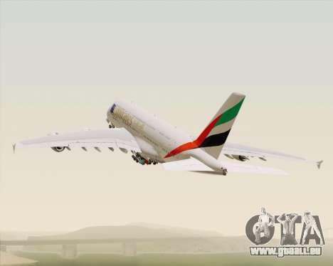 Airbus A380-800 Emirates (A6-EDJ) für GTA San Andreas Unteransicht