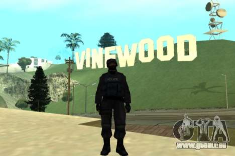 Black Police All für GTA San Andreas sechsten Screenshot