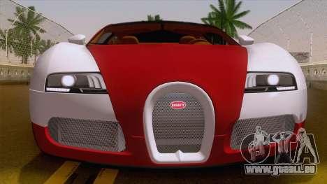 Bugatti Veyron Grand Sport Sang Bleu 2008 für GTA San Andreas rechten Ansicht