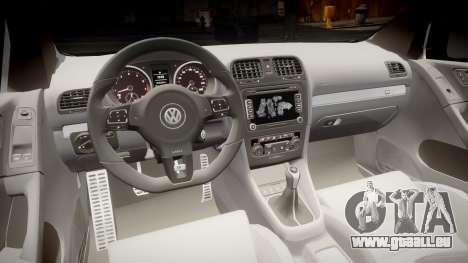 Volkswagen Golf R pour GTA 4 Vue arrière