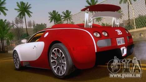 Bugatti Veyron Grand Sport Sang Bleu 2008 für GTA San Andreas linke Ansicht