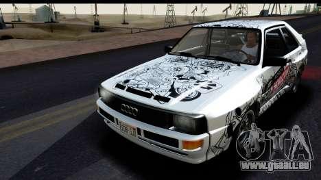 Audi Sport Quattro B2 (Typ 85Q) 1983 [IVF] pour GTA San Andreas salon