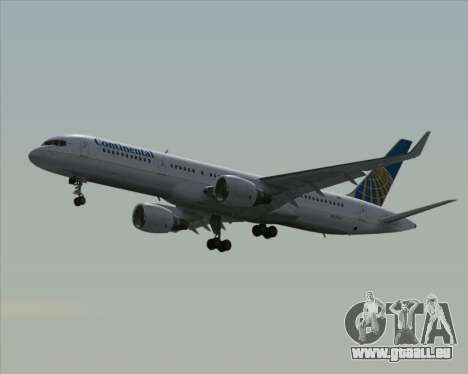 Boeing 757-200 Continental Airlines pour GTA San Andreas vue arrière