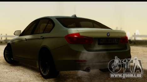 BMW 335i E92 2012 pour GTA San Andreas laissé vue
