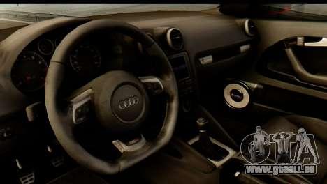 Audi S3 2007 Camber Edit pour GTA San Andreas vue arrière