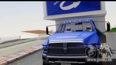 Dodge Ram 350 pour GTA San Andreas vue de droite