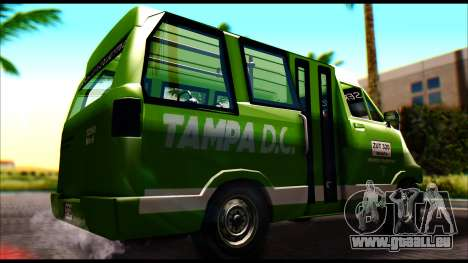 Toyota Microbus für GTA San Andreas zurück linke Ansicht