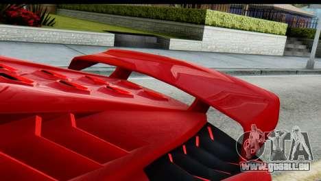 GTA 5 Pegassi Zentorno pour GTA San Andreas sur la vue arrière gauche