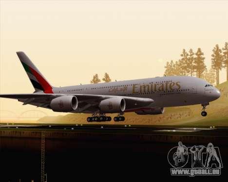 Airbus A380-800 Emirates (A6-EDJ) für GTA San Andreas linke Ansicht