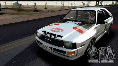 Audi Sport Quattro B2 (Typ 85Q) 1983 [IVF] pour GTA San Andreas vue de dessus