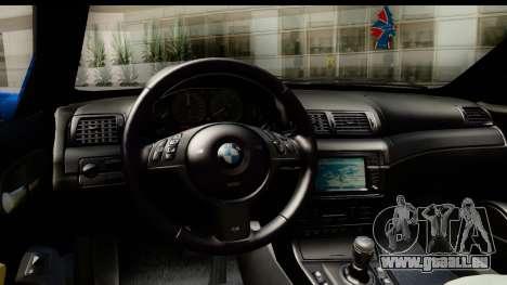 BMW M3 Stance pour GTA San Andreas vue de droite