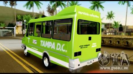 Iveco Minibus pour GTA San Andreas sur la vue arrière gauche