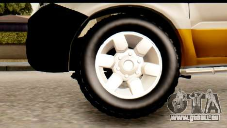 Toyota Hilux Meraclo Utility 2010 für GTA San Andreas zurück linke Ansicht