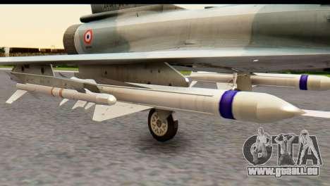 Dassault Mirage 2000-5 für GTA San Andreas zurück linke Ansicht