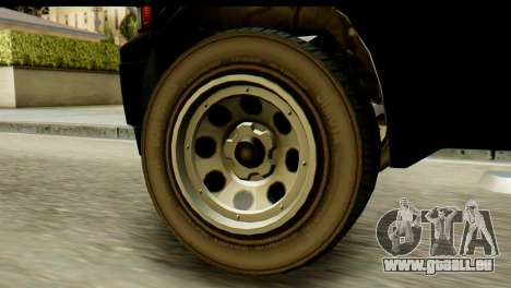 GTA 5 Vapid Sadler pour GTA San Andreas sur la vue arrière gauche