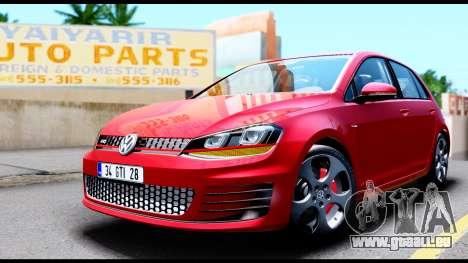 Volkswagen Golf GTI 2015 pour GTA San Andreas vue de droite
