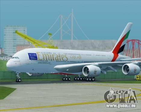 Airbus A380-800 Emirates (A6-EDJ) für GTA San Andreas rechten Ansicht