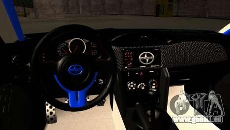 Scion FR-S pour GTA San Andreas vue intérieure
