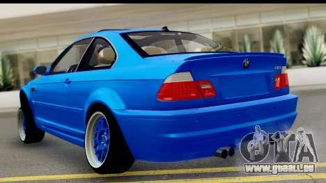 BMW M3 Stance pour GTA San Andreas laissé vue