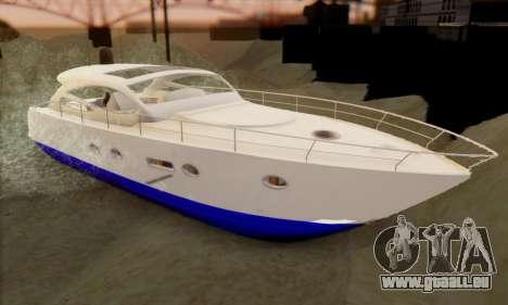 Speed Yacht für GTA San Andreas linke Ansicht