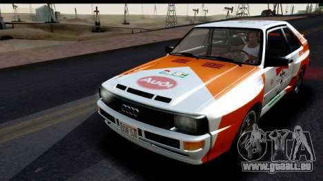 Audi Sport Quattro B2 (Typ 85Q) 1983 [IVF] pour GTA San Andreas moteur