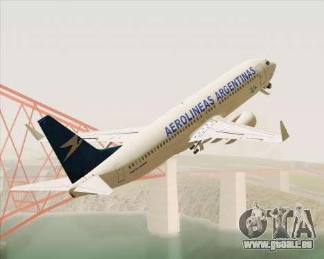 Boeing 737-800 Aerolineas Argentinas für GTA San Andreas Innenansicht