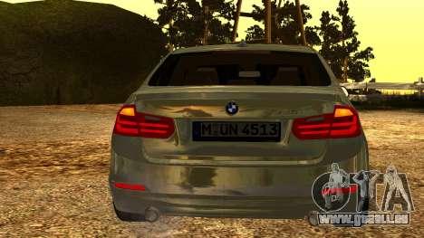 BMW 335i E92 2012 pour GTA San Andreas vue arrière
