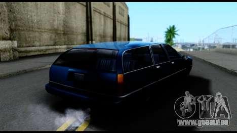 Elegant Station Wagon pour GTA San Andreas sur la vue arrière gauche