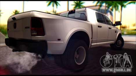 Dodge Ram 3500 Heavy Duty für GTA San Andreas zurück linke Ansicht